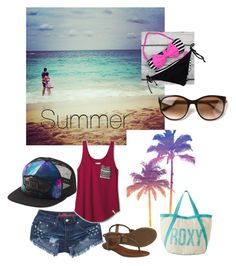 """Summer"" by aranzaortiz ❤ liked on Polyvore featuring beauty, Charlotte Russe, TOMS, Frye, Roxy, Vans and Thierry Lasry"
