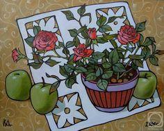 Калинкина Дина. Натюрморт с розами