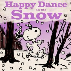 Snoopy happy dance in the snow Peanuts Christmas, Charlie Brown Christmas, Charlie Brown And Snoopy, Christmas Time, Peanuts Thanksgiving, Christmas Blessings, Peanuts Cartoon, Peanuts Snoopy, Peanuts Comics