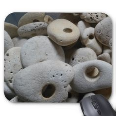 Stones with holes mouse mat