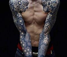 Wicked Pointillism Tattoo