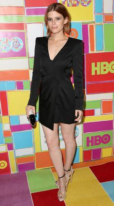 Kate Mara went from white and long to black and short at the HBO after-party.