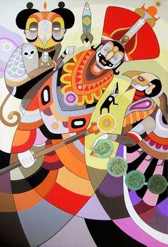 """Secret by Fernando Chamarelli, acrylic on canvas, 90 x 60 cm (35.5"""" x 23.7""""), 2011"""