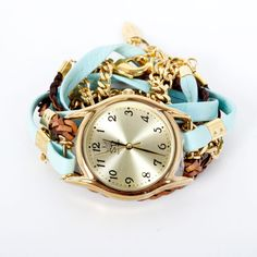 Leather Chain Wrap Watch Blue design inspiration on Fab.