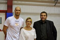 Il mister, la Pres e Andrea Burlandi