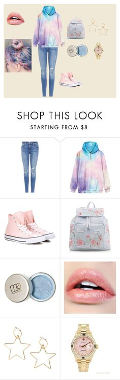 """Casual"" by pamcakes14 ❤ liked on Polyvore featuring Frame, Converse, New Look, Rolex and pastel"