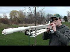 Homemade  Air powered Sniper Rifle