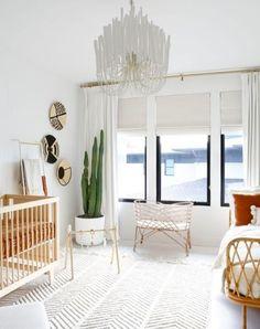 Grey Nursery, White Linen Roman Shades, Decor, Furniture, Flat Roman Shade, Nursery, Home, White Roman Shades, Home Decor