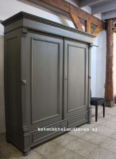 Grote Industriele kast / Demontabel /1482 New Homes, Kitchen Cupboards, Furniture, House, Home, Interior, Home Deco, Painted Furniture, Home Decor