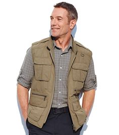 Based on our popular Vest of Many Pockets (VOMP), this vest has an astounding 16 pockets. Travel tip: load it up your travel necessities and documents and then put it through the airport scanner; it usually won't count as weighed baggage.