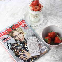 """""""Happy new day dolls ❤️ #morning #breakfast #strawberry #oatmeal #healthy #helathyfood #marieclaire #magazine #iphone #fruits #marieclaire100"""" Photo taken by @styleandblog on Instagram, pinned via the InstaPin iOS App! http://www.instapinapp.com (10/20/2015)"""
