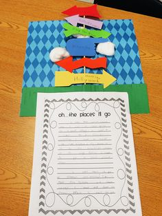 End of the year creative writing activity Great resource for crafts, activities, snack, video, etc Classroom Fun, Classroom Activities, Library Activities, Future Classroom, Dr. Suess, Knuffle Bunny, Theodor Seuss Geisel, Dr Seuss Week, Last Day Of School