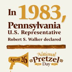 This year marks the 30th anniversary of National Pretzel Day and our 104th birthday. Here's to the next 30 years of celebrating this yummy snack!