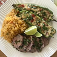 Recipe—Grilled Pork Tenderloin with Queso Stuffed Chiles Grilled Stuffed Peppers, Red Cabbage Coleslaw, Pork Tenderloin Medallions, Small Tomatoes, Diet Recipes, My Recipes, Time To Eat, Grilled Pork