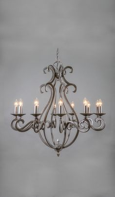 New Mexico Wrought Iron Chandelier - 12 Light