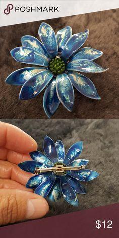 Vintage Flower Enamel Pin Brooch Vintage Flower Enamel Pin Brooch Vintage Jewelry Brooches