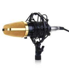 Floureon BM-700 Cardioids Condenser Microphone Mic For Studio Recording Live Etc w/ Shock Mount Stand High Output Low Noise Black Floureon http://www.amazon.com/dp/B00Q9ZHXDW/ref=cm_sw_r_pi_dp_xeM9ub0JWEP5W