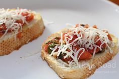 Bruschetta is one of our family's favorite ways to enjoy the organic tomatoes we grow. This is the simple recipe we use.