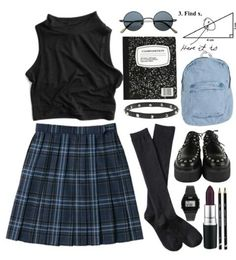 Grunge fashion Except i would wear with docs and a different choker