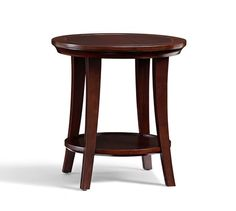 Option 2 for seating area: Metropolitan Round Side Table in Black | Pottery Barn