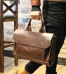 Online Shop High Class Leather Fashion Briefcase 2015 HOT Cheap Leather Briefcase Crazy Horse Leather Messenger Bag briefcase leather MX004 Aliexpress Mobile