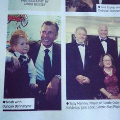 Noah with Duncan Bannatyne in Carlisle Living Magazine