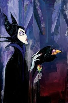 """Maleficent"" by Jim Salvati - Limited Edition of 50 on Hand-Embellished Canvas,"