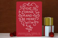 Love this holiday party invitation. So warm.