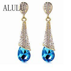 Golden Angel Wings Rubans gold filled Cristal Zircone Cubique Zircon Femmes Lady Stud Earring