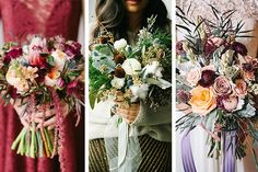 Autumn / Fall Bridal Bouquets // www.onefabday.com