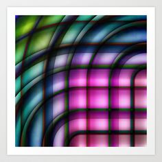 Multicolored abstract no. 19 Art Print Promoters - $20.00