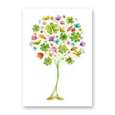 Greetingcard; 'Good luck bouquet'