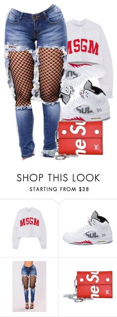 Untitled #154 by dejanioque0225 on Polyvore featuring Supreme and NIKE