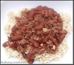 Skinny Red Beans and Rice Crockpot - this was kinda bland, but spicy.  Add taco seasoning, cheese and sour cream next time.