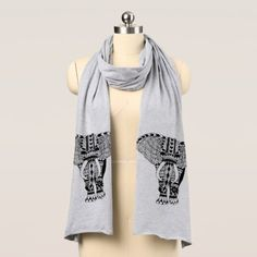 Trendy Bohemian Tribal Patterned Elephant Scarf - chic design idea diy elegant beautiful stylish modern exclusive trendy
