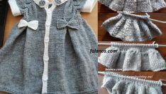 Elbise Şeklinde Pileli Bebek Yeleği Yapılışı
