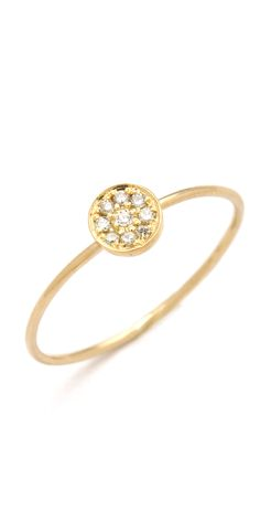 Jennifer Meyer Jewelry 18k Gold Circle Diamond Ring | SHOPBOP