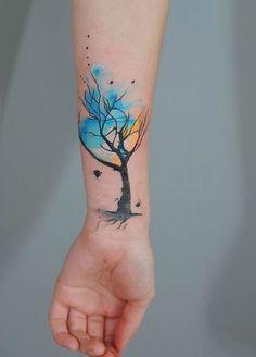 tatuajes de acuarela para mujeres 3                                                                                                                                                                                 Más