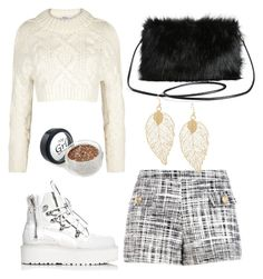 """""""😗"""" by stocheciusara ❤ liked on Polyvore featuring DKNY, Boutique Moschino, Puma and Torrid"""