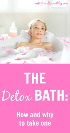 The Detox Bath: 5-10 drops oil to 2 cups Epsom salt, add to very hot bath, add 1 cup baking soda, soak 20 minutes