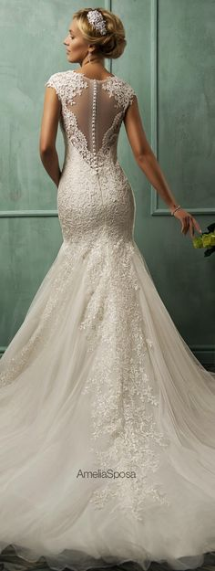 Amelia Sposa 2014 Wedding Dress / Back