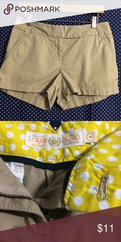 J Crew Shorts 100% Cotton- Khaki- Inseam- 3 inches J. Crew Shorts
