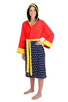 8488d79b46 DC Comics Wonder Woman Stars Hooded Fleece Robe Wonder Woman Outfit
