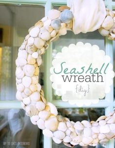 DIY Seashell Wreath - Up to Date Interiors
