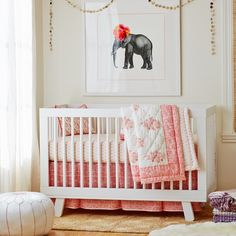 Palace Pink Pleated Crib Skirt