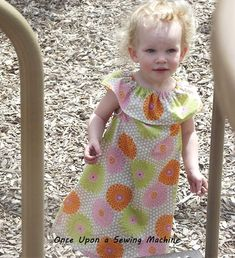 Ruffle Neck Peasant Dress Pattern and Tutorial by Once Upon a Sewing Machine