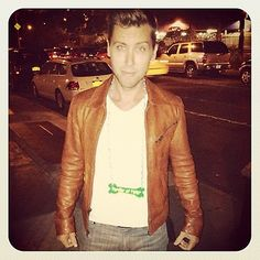 Lance Bass.... mmm i had the biggest crush on him in the 90's i cried my eyes out when i found out hes gay lol its ok tho
