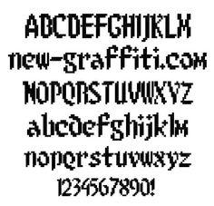 bitmap fonts | Free Download Font Style Pixel Bitmap> 8 Bit Limit | new-graffiti