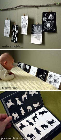 Black and white cards for babies