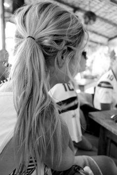long pony tail :)